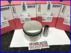 4 x FORD 2.0 OHC PINTO MAHLE PISTONS STD High Compression 0142100