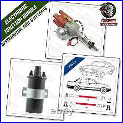 Ford Pinto Electronic Distributor OHC 4 Cyl Engine with Red 8mm Leads & Coil