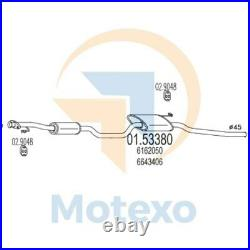 MTS 01.53380 Exhaust FORD Sierra 2.0 OHC 105bhp 08/85 02/87